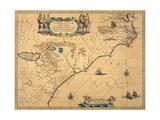 Virginiae Partis Australes Et Floridae Partis Orientalis  Circa 1640