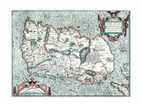 Ireland Hiberniae Brittanicae Insulae Nova Descriptio 1592