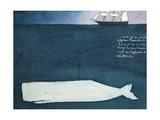 Moby Dick Giclée par Claus Hoie