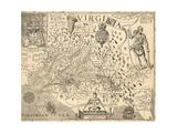 Carte de la Virginie Giclée par William Gilmore Simms