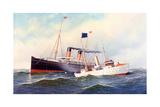 British Ship Majestic with Pilot Boat New York  1898