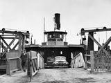 Newport News Ferry Unloading Her Cargo  1947
