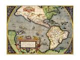 Americae Sive Novi Orbis Nova Descriptio 1592
