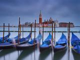 Italy  Veneto  Venice  St Mark's Square  Gondolas  San Giorgio Maggiore  Lagoon  Evening Mood