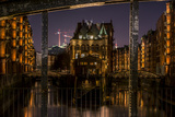 Germany  Hamburg  Speicherstadt (Warehouse District)  Moated Castle  Night  Night Shot