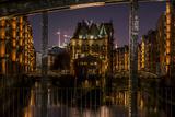 Germany  Hamburg  Speicherstadt (Warehouse District)  Moated Castle  Night  Night Shot