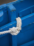 Rope  Boat  Blue  Wood  Up  Detail