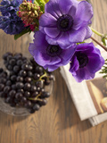 Flower  Anemone  Blossom  Grapes  Newspaper