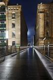 KibbelstegbrŸcke and Office Houses at Night  Speicherstadt  Hanseatic City of Hamburg