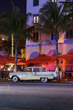 Chevrolet Bel Air  Year of Manufacture 1957  the Fifties  American Vintage Car  Ocean Drive