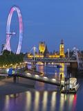 River Thames  Hungerford Bridge  Westminster Palace  London Eye  Big Ben