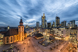 Germany  Hesse  Frankfurt on the Main  Skyline with Hauptwache and St Catherine's Church