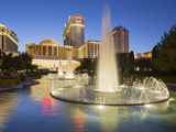 Fountain in Front of the Ceasars Palace Hotel  Strip  South Las Vegas Boulevard  Las Vegas  Nevada