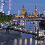 The Thames  Hungerford Bridge  Westminster Palace  London Eye  Big Ben