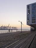 Architecture  Office Buildings  NeumŸhlen  Evening Mood  Hanseatic City of Hamburg  Germany