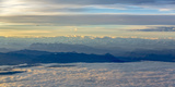 Over the Clouds  Alps  Panorama  Sunrise  Flight  are Flying