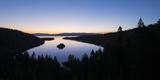 The USA  America  Lake Tahoe  California  Emerald Bay  Bay  Morning  Atmosphere  Blue  Silhouette