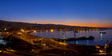 South America  Chile  Pacific Coast  Valparaiso  Harbour Bay  Evening Mood