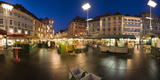 Austria  Styria  Graz  Main-Place  Frontage  Market-Stands  Evening-Mood
