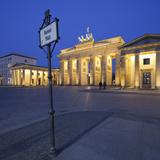 Germany  Berlin  Pariser Platz (Square)  the Brandenburg Gate  Night