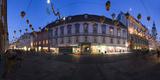 Austria  Styria  Graz  Herrengasse  Frontage  Evening-Mood  Panorama