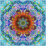 A Flower Mandala  Photographic Layer Work from a Painting