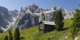 Alpine Hut  Sella Behind  Dolomites  South Tyrol  Italy  Europe