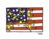 American Music Festival - New York City Ballet, 1988 Reproduction d'art par Keith Haring