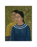 Dos Mujeres (Salvadora y Herminia), 1928 Reproduction d'art par Frida Kahlo