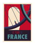 Tour de France Reproduction d'art par Spencer Wilson