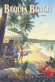 Bequia Beach Hotel Reproduction d'art par Kerne Erickson