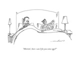 """Mornin'  hon—can I fix you some eggs"" - New Yorker Cartoon"