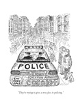 """They're trying to give a new face to policing"" - New Yorker Cartoon"