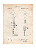 T A Edison Light Bulb and Holder Patent Art
