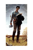 Lincoln the Railsplitter (or Young Woodcutter) Giclée par Norman Rockwell