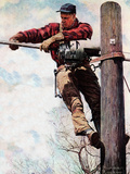 The Lineman (or Telephone Lineman on Pole)