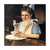 Cereal Bowl (or Girl with Blue Bow Eating Cereal)