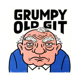 Old Man with Grumpy Old Git Lettering