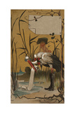 Stork with Baby Illustrations