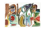 Calligraphic Watercolor Partial Alphabet