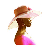Profile of African-American Woman in Large Brimmed Hat