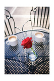 Rose in Vase with Coffee in Cafeî'