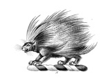 Stylized Porcupine Symbol