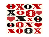 Xo and Hearts Lettering