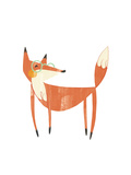 Whimsical-Style Fox Wearing Glasses Reproduction d'art