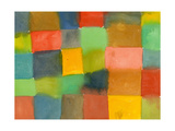 Geometric Pattern of Watercolor Rectangles