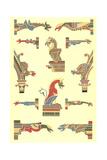Stylized Gargoyles with Other Pillar Finials