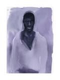 Man in Purple Shirt on Purple Watercolor