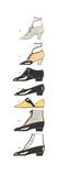 Diagram of Vintage Women's Shoes