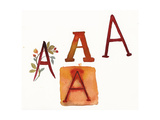 Letter a in Various Watercolor Styles